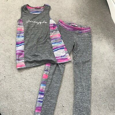Grey And Purple Rainbow Striped Sports Set Pineapple Girls 13-14 Years