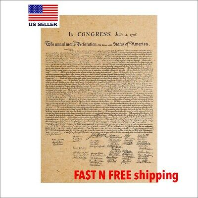 FOUR Historic Document of FREEDOM  POSTER SET-TUBED 37850