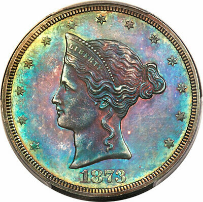 1873 Judd-1276 Trade Dollar Pattern / PCGS PR-62  Beautiful Color!