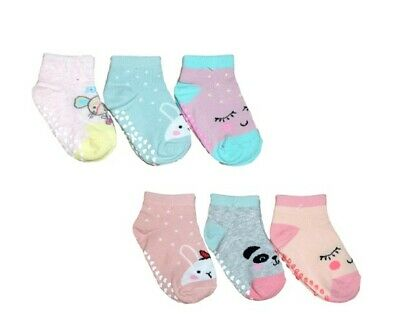Girls Toddler Children Kids Cotton Short Trainer Summer ABS Socks 3 Pairs