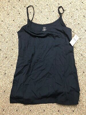 Ann Taylor LOFT Womens Live Love Small Navy Blue Adjustable Strap Camisole NWT
