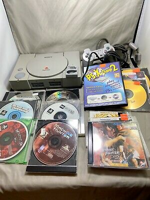 Sony PlayStation 1 PS1 Console Bundle Controller Memory Card 11 Games Lot Tested