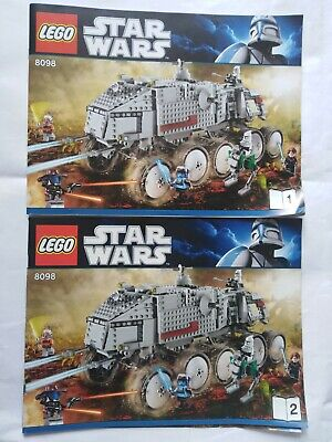 Clone Turbo Tank 8098 Lego Star Wars Building Instruction Manual Booklets
