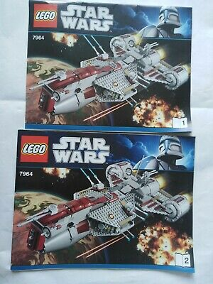 Republic Frigate 7964 Ship Lego Star Wars Building Instruction Manual Booklets