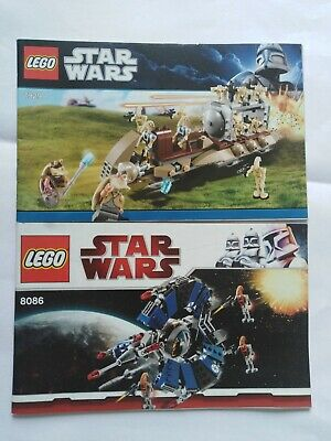 The Battle of Naboo 7929 8086 Lego Star Wars Building Instruction Manual Booklet
