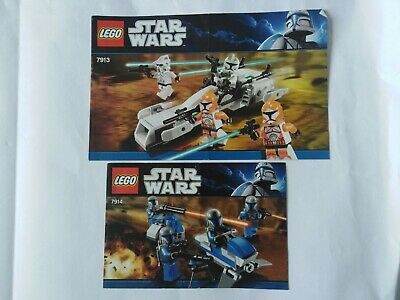 7914 Mandalorian 7913 Clone Lego Star Wars Building Instruction Manual Booklet