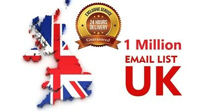 1 Million UK  ✔️✔️ Consumer Email List Sales database ✔️ ✔️