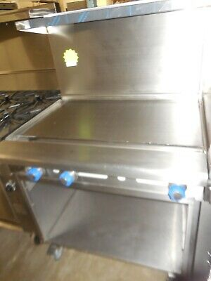 """Used Imperial 36"""" Range With Griddle & Open Cabinet, Nat Gas"""