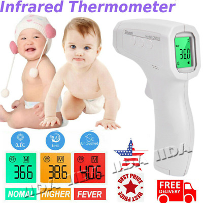 NO touch Digital IR Infrared Forehead Thermometer Gun Baby Adult Body CE FDA
