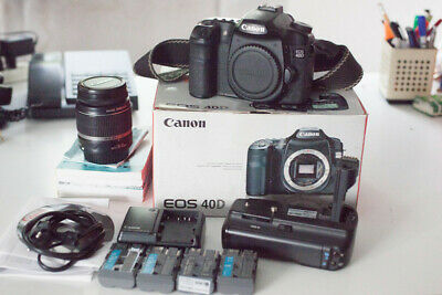 Canon 40D + accessories + lens 18-55mm, no. 22215 shots