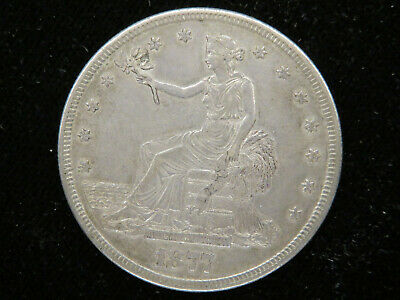 1877 S US Silver Trade Dollar S139