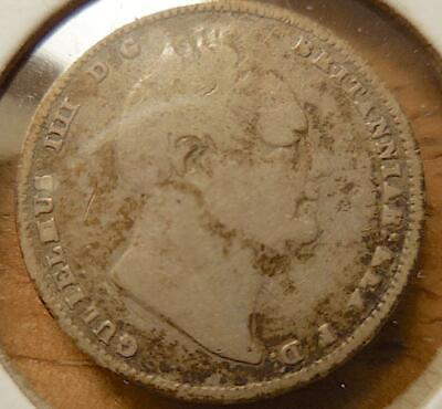 1836 BRITISH GUIANA Silver 1/2 Guilder Coin