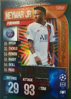 Match Attax Extra 2019/20 Neymar Jr Bronze Limited Edition Le1B