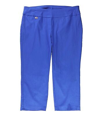 Alfani Womens Pants Blue Size 18W Plus Capris Tummy-Control Stretch $49 144
