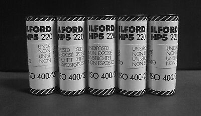 DISCONTINUED ILFORD HP5 220 b&w 400 ISO Neg Film 5 Rolls  (Expired Film)