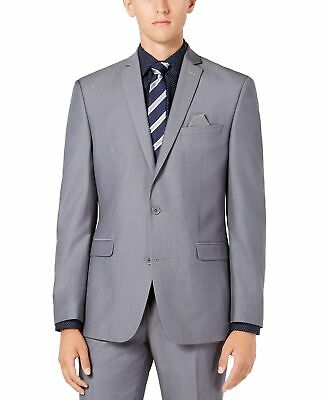 Bar III Mens Blazer Gray Size 34S Slim-Fit Active Stretch Two Button $425 007