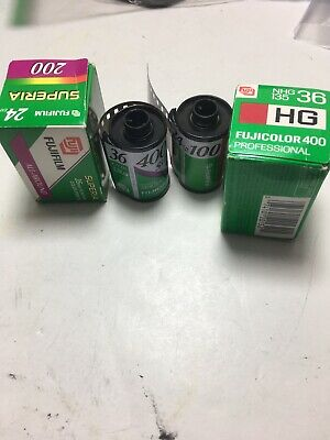 4 Rolls Of 35mm Fuji Color Film Expired/refrigerated