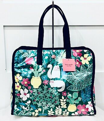 NWT Kate Spade Morley Garden Posy Large Tote AMAZING CAT PLACEMENT NEW