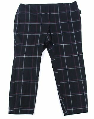 Alfani Womens Pants Black Size 22W Plus Skinny Comfort-Waist Stretch $84 241