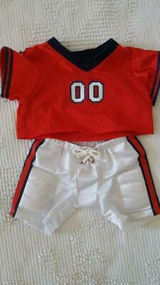 Build a Bear White//Red//Blue Football Uniform Pants