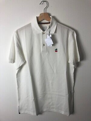 Paul Smith Men Polo Shirt Size Small Ivory Cherry BNwT