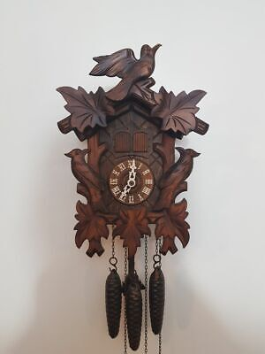 Vintage Musical Bird nest Cuckoo Clock with fully functional and working