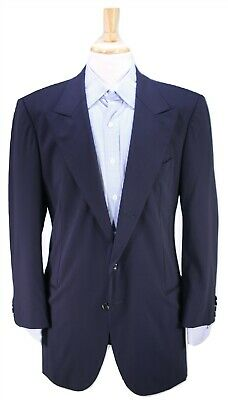 GIORGIO ARMANI Black Label Recent Navy Blue Peak Lapel Unstructured Blazer 40R