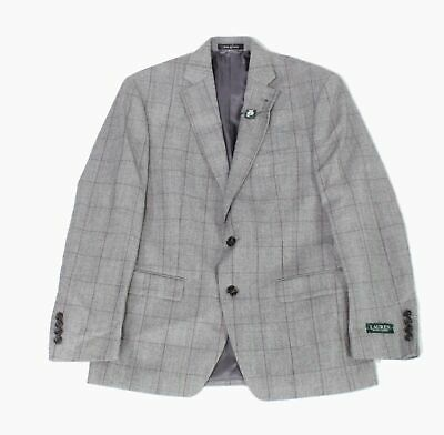 Lauren by Ralph Lauren Mens Blazer Gray Size 38 Short Two Button Wool $450 176