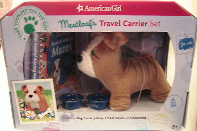 American Girl Meatloaf's Travel Carrier Set Bulldog Accessories - RETIRED