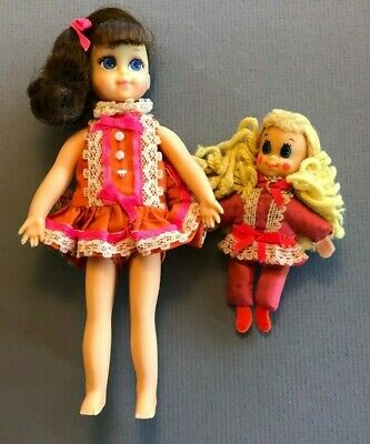 #1135 Angie 'n Tangie dolls 1970 Pretty Pairs TUTTI SIZE Mod Vintage Barbie