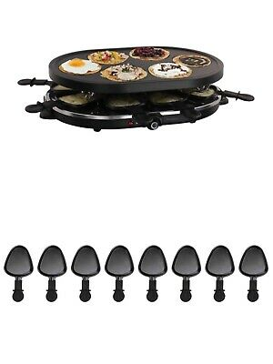 Luxe Raclette Barbecue Table Grill Électrique Crêpe Fabricant non Adhésive 1200W