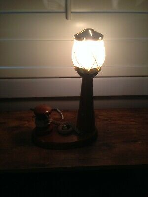 Vintage Wooden Lighthouse Table Lamp