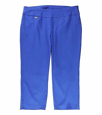 Alfani Womens Pants Blue Size 16W Plus Capris Tummy-Control Stretch $49 065