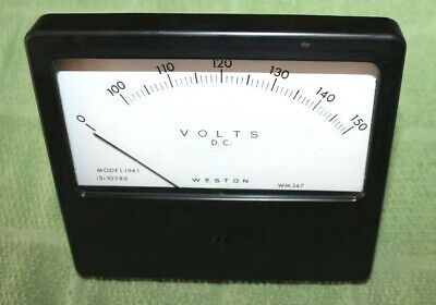 Vintage Weston Instruments  0-150 VDC VOLTS DC. PANEL Meter Gauge  #1941 / WM347