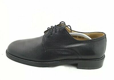 Vito Rufolo Mens Casual Black Deerskin Leather Oxford Derby Shoes 10.5 D