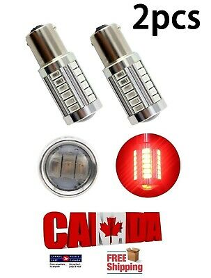 2x 1156 BA15S Red LED 33SMD 5630 Car Turn Signal Blinker Lights DRL Projector