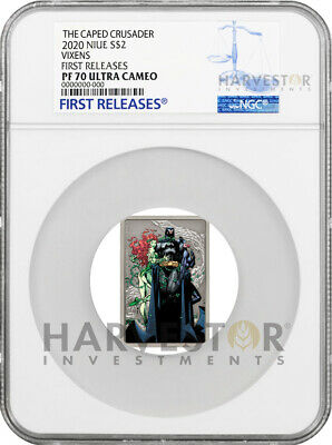 2020 The Caped Crusader - Vixens - Poster Coin - Ngc Pf70 First Releases