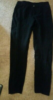 ANTHROPOLOGIE Pure Good Black Ribbed Stretch PANTS SIZE SMALL
