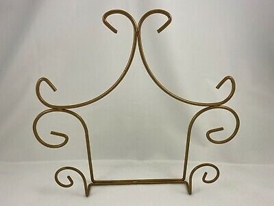 Decorative Antique Brass Wall Hanger for Plates, Books, or Pictures