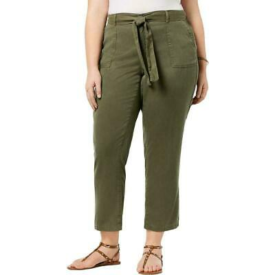 Style & Co. Womens Pants Green Size 18W Plus Cropped Straight Leg $59 163