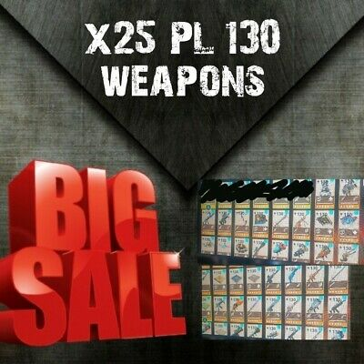 X25 PL130 weapons  full gold rolls Fortnite save the world