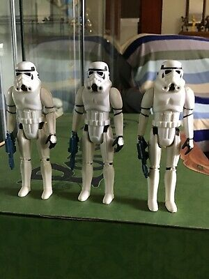 Vintage Star Wars STORMTROOPER Lot with weapon x 3