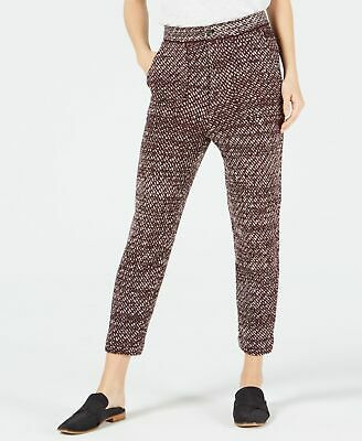 Free People Womens Pants Deep Red Size Medium M Knit Cropped Stretch $148 237