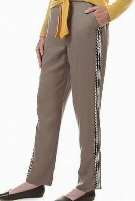 Tribal Womens Pants Brown Size XL Pull-On Embroidered Detail Stretch $58 513