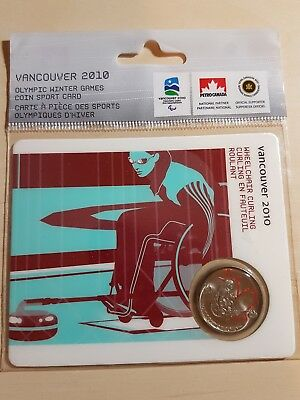 Vancouver 2010 Paralympic / Olympic Coin Card - Wheelchair Curling