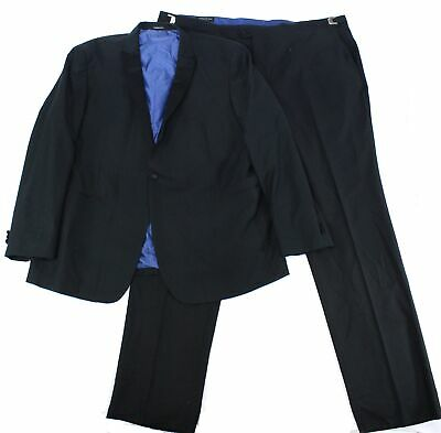 London Fog Mens Suits Black Size 54 Long Printed One-Button Tuxedo $299- 572