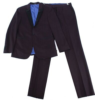 London Fog Mens Suits Red Size 50 Tuxedo Notched Lapel One-Button $299 564