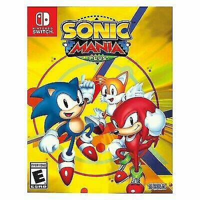 NEW Sonic Mania Plus first print run with Art Book Nintendo Switch the hedgehog