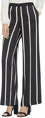 Vince Camuto Women's Pants Black Size XS Striped Mid-Rise Stretch $99 317
