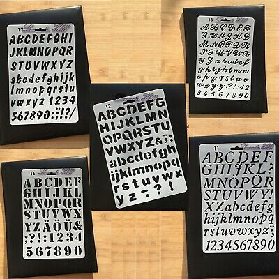 Alphabet Letters Numbers Card Making Stencils Templates Painting DIY Scrapbook